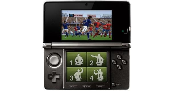 PES 2012 3D para 3DS, el cual saldrá a la venta en diciembre con todo